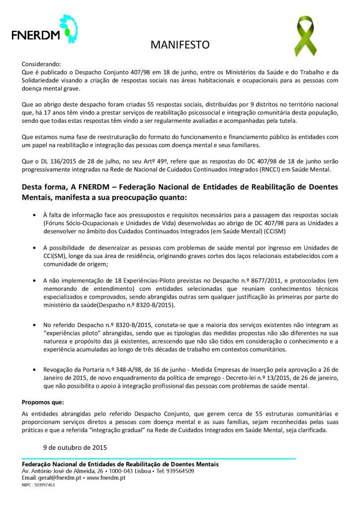 Manifesto FNERDM Vertical
